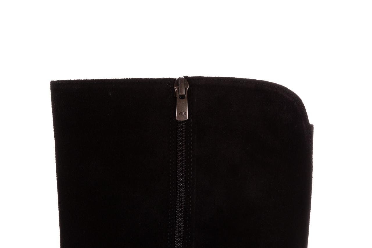 Kozaki bayla-196 950909 siyah suede 196029, czarny, skóra naturalna  - jesień-zima 2020/2021 17