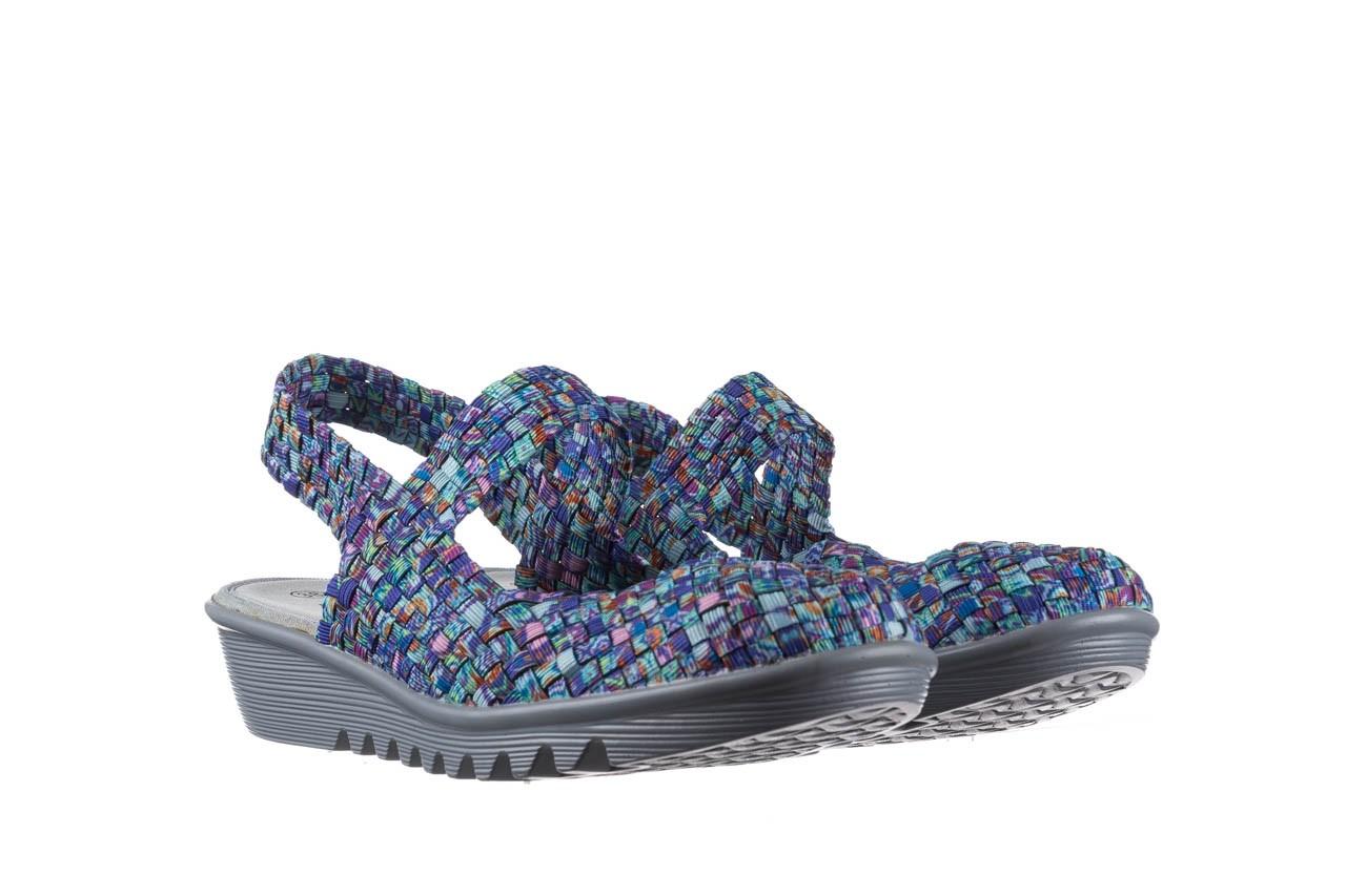 Sandały rock sheila blue orange smoke, niebieski, materiał - na koturnie - sandały - buty damskie - kobieta 8