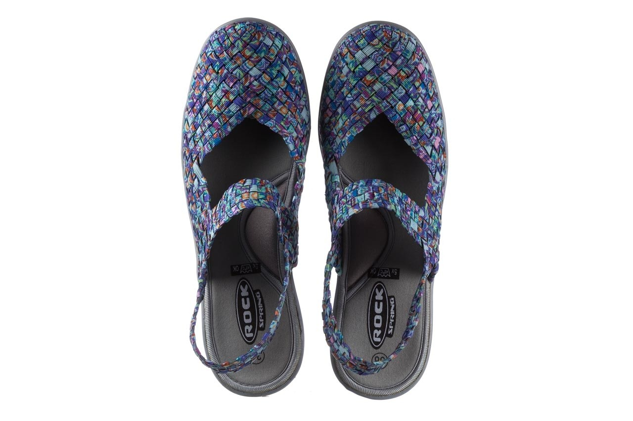 Sandały rock sheila blue orange smoke, niebieski, materiał - na koturnie - sandały - buty damskie - kobieta 11