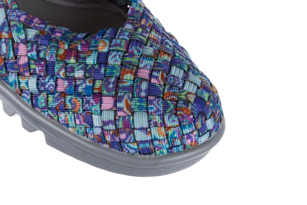 Sandały rock sheila blue orange smoke, niebieski, materiał - na koturnie - sandały - buty damskie - kobieta 12