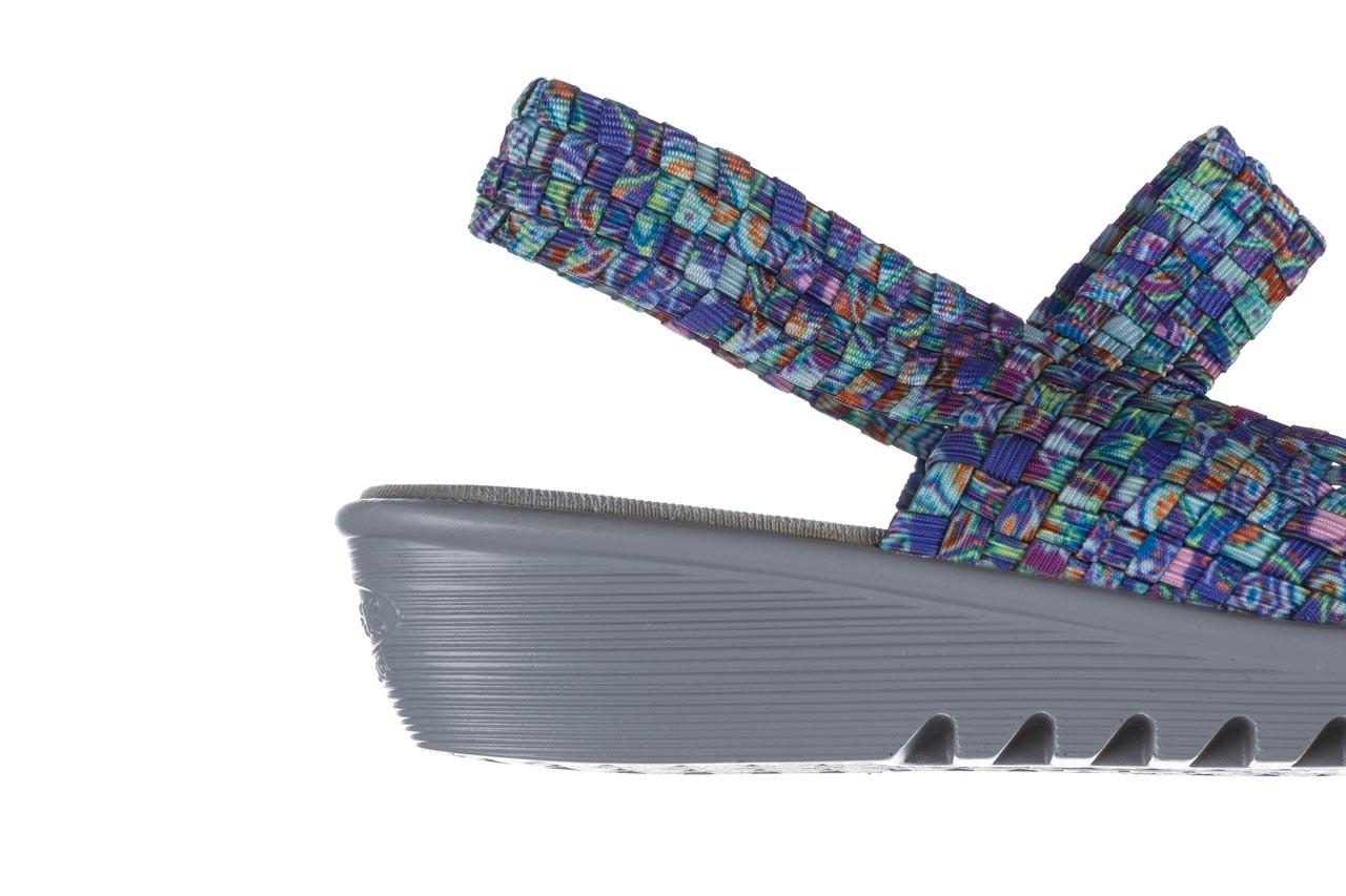 Sandały rock sheila blue orange smoke, niebieski, materiał - na koturnie - sandały - buty damskie - kobieta 13