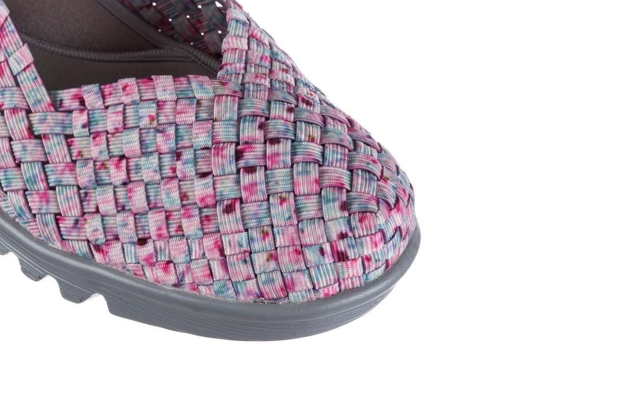 Sandały rock shelia pink blue smoke, róż, materiał  - kobieta 12