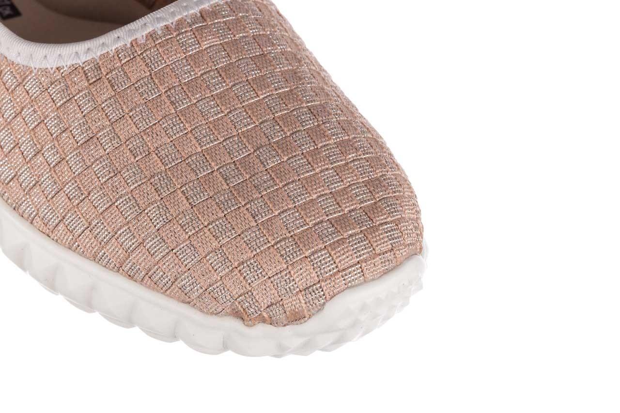 Baleriny rock sanya pink gold ice white binding, róż, materiał - kobieta 12