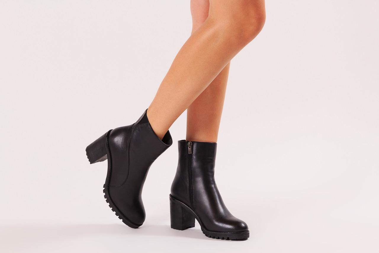 Botki bayla-196 969606 siy soft 196031, czarny, skóra naturalna  - skórzane - botki - buty damskie - kobieta 12