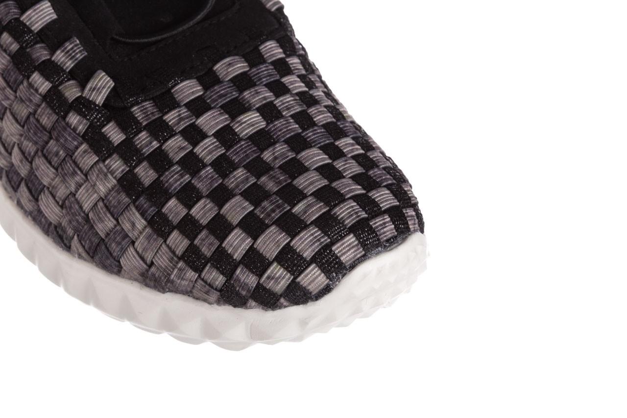 Półbuty rock noam violet beige smoke met blk, czarny/ szary, materiał  - sznurowane - półbuty - buty damskie - kobieta 12