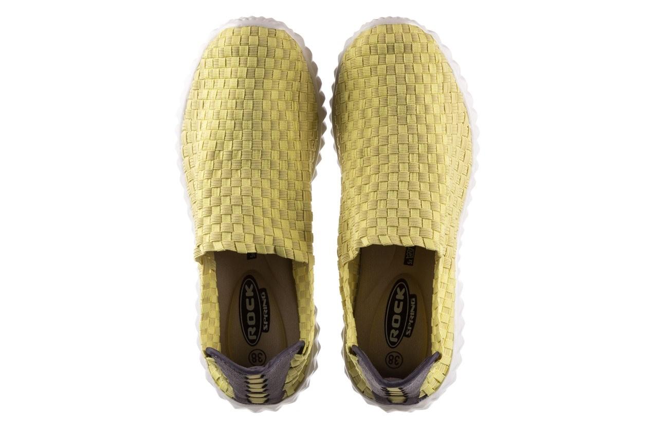 Półbuty rock nina yellow, żółty, materiał  - kobieta 11