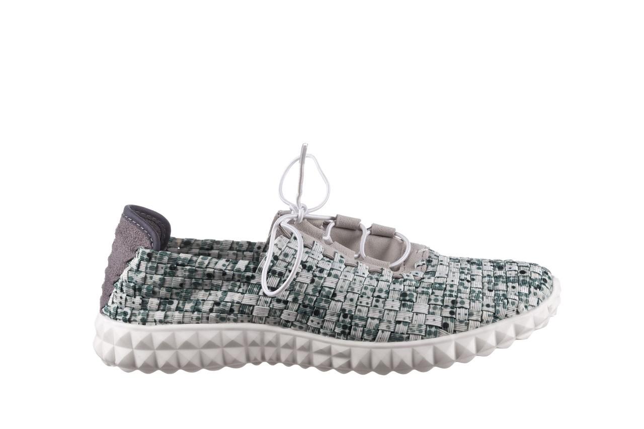 Półbuty rock noam white green points smoke, zielony/ biały, materiał  - wsuwane - półbuty - buty damskie - kobieta 7