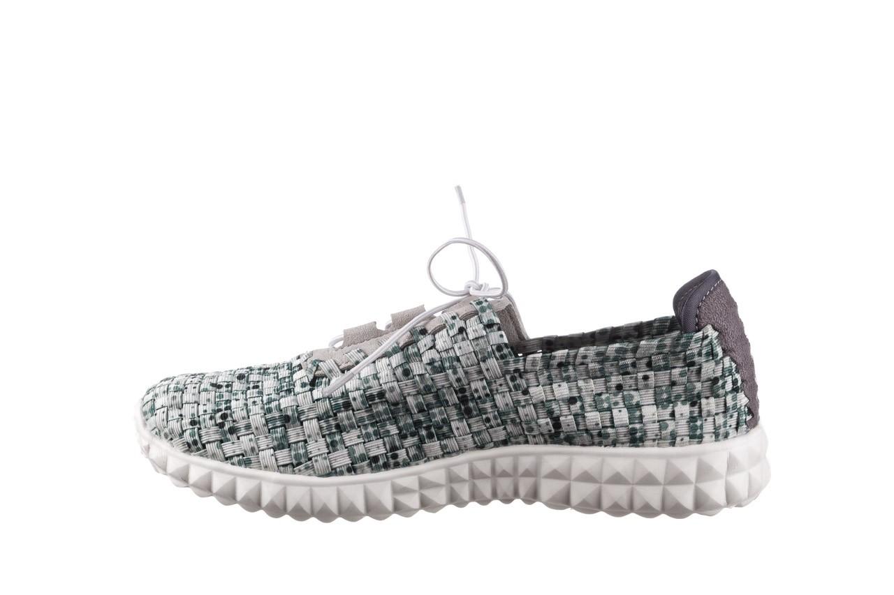 Półbuty rock noam white green points smoke, zielony/ biały, materiał  - sznurowane - półbuty - buty damskie - kobieta 9