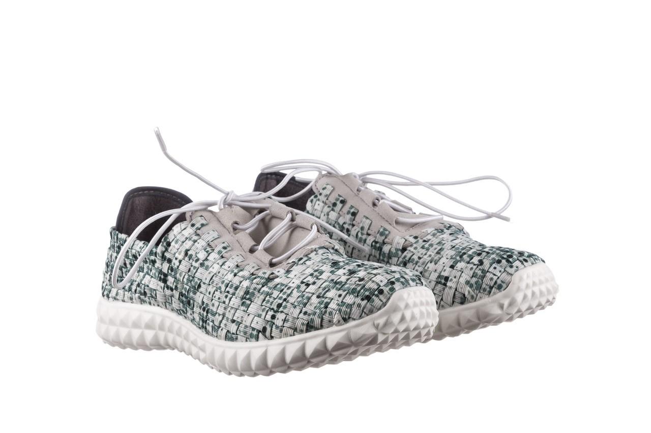 Półbuty rock noam white green points smoke, zielony/ biały, materiał  - sznurowane - półbuty - buty damskie - kobieta 8