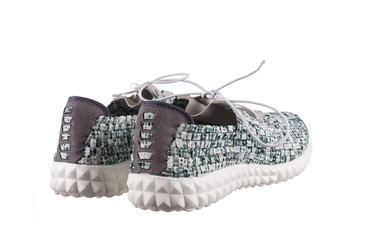 Półbuty rock noam white green points smoke, zielony/ biały, materiał  - sznurowane - półbuty - buty damskie - kobieta 10