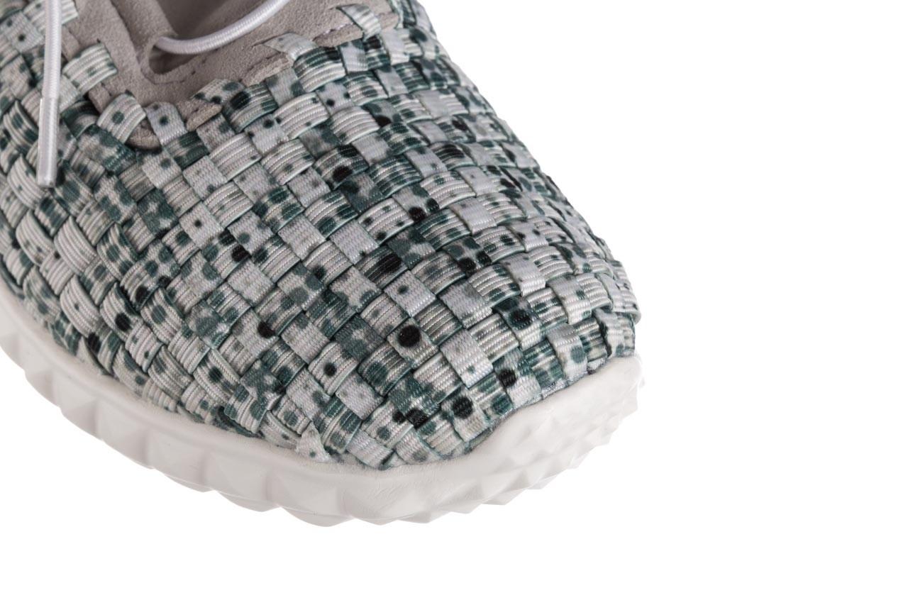 Półbuty rock noam white green points smoke, zielony/ biały, materiał  - sznurowane - półbuty - buty damskie - kobieta 12