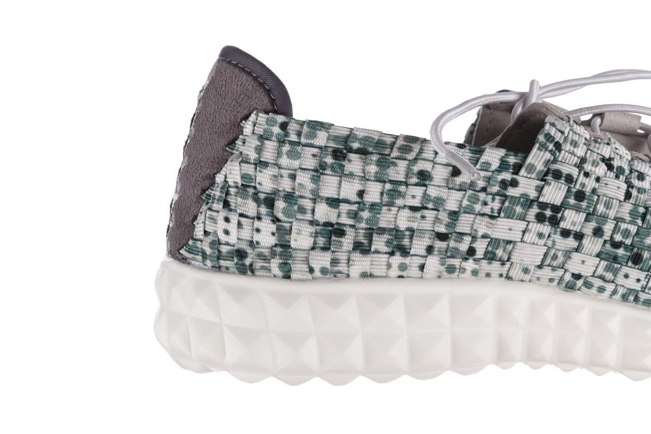 Półbuty rock noam white green points smoke, zielony/ biały, materiał  - wsuwane - półbuty - buty damskie - kobieta 13
