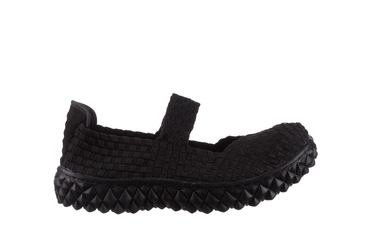 Półbuty rock over black 21 032854, czarny, materiał - wsuwane - półbuty - buty damskie - kobieta 7