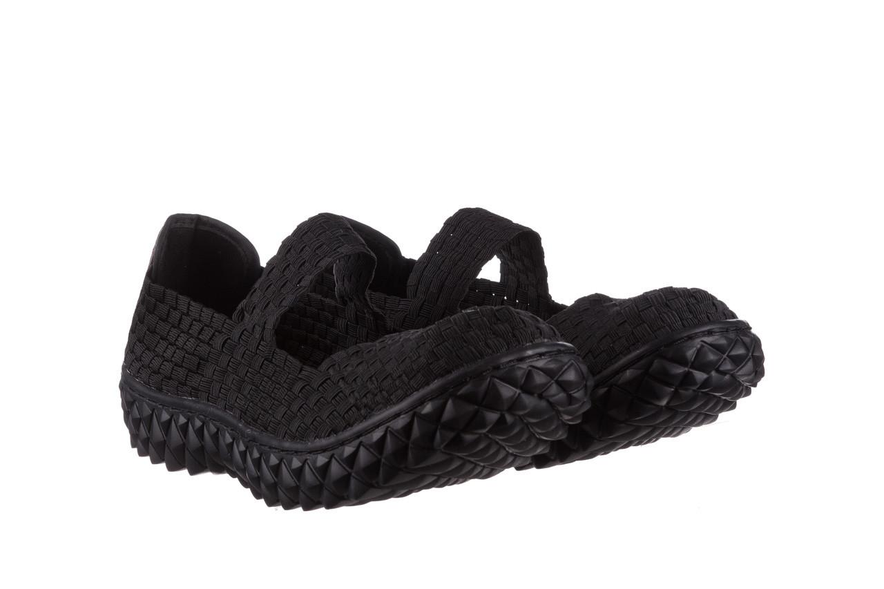 Półbuty rock over black 21 032854, czarny, materiał - wsuwane - półbuty - buty damskie - kobieta 8