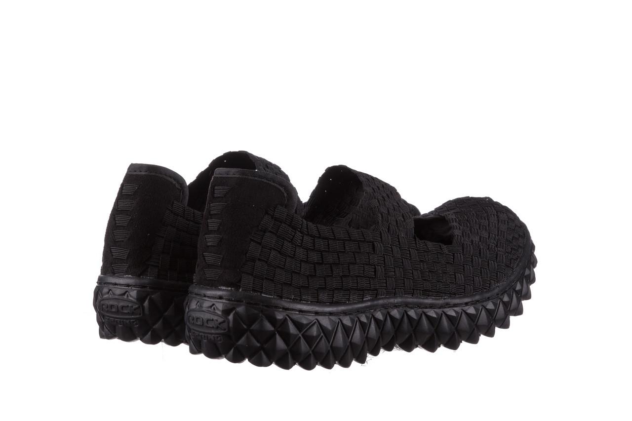 Półbuty rock over black 21 032854, czarny, materiał - wsuwane - półbuty - buty damskie - kobieta 10
