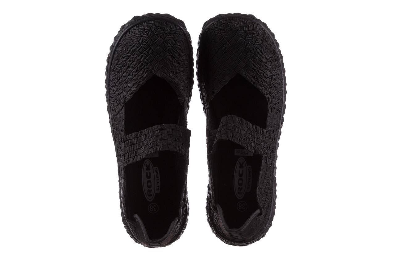 Półbuty rock over black 21 032854, czarny, materiał - wsuwane - półbuty - buty damskie - kobieta 11