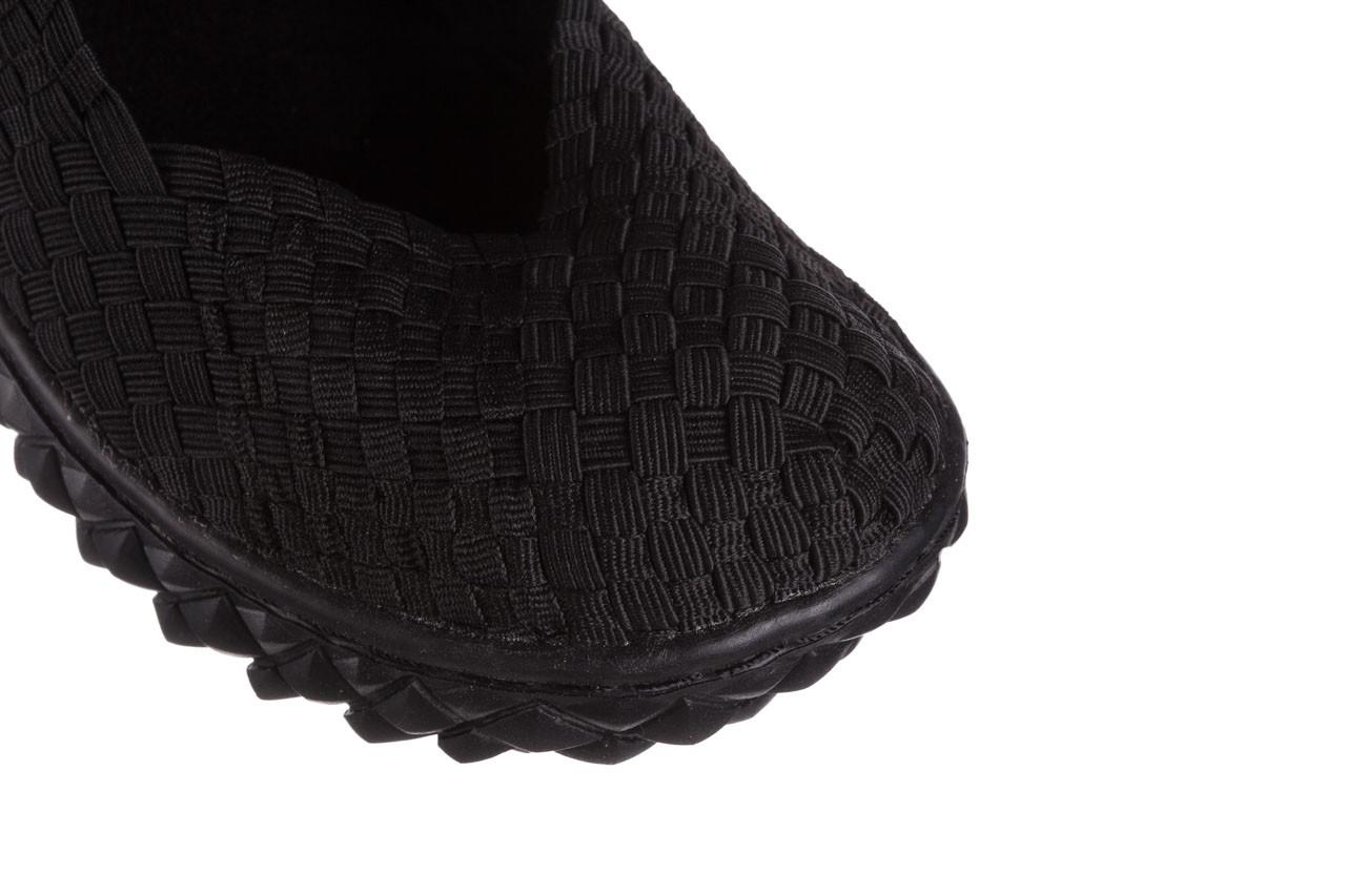 Półbuty rock over black 21 032854, czarny, materiał - wsuwane - półbuty - buty damskie - kobieta 12