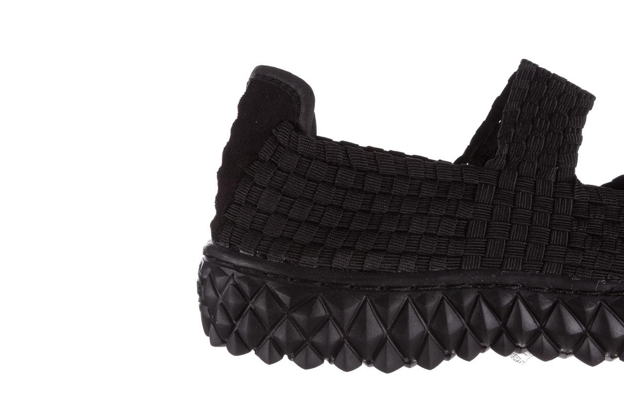 Półbuty rock over black 21 032854, czarny, materiał - wsuwane - półbuty - buty damskie - kobieta 13