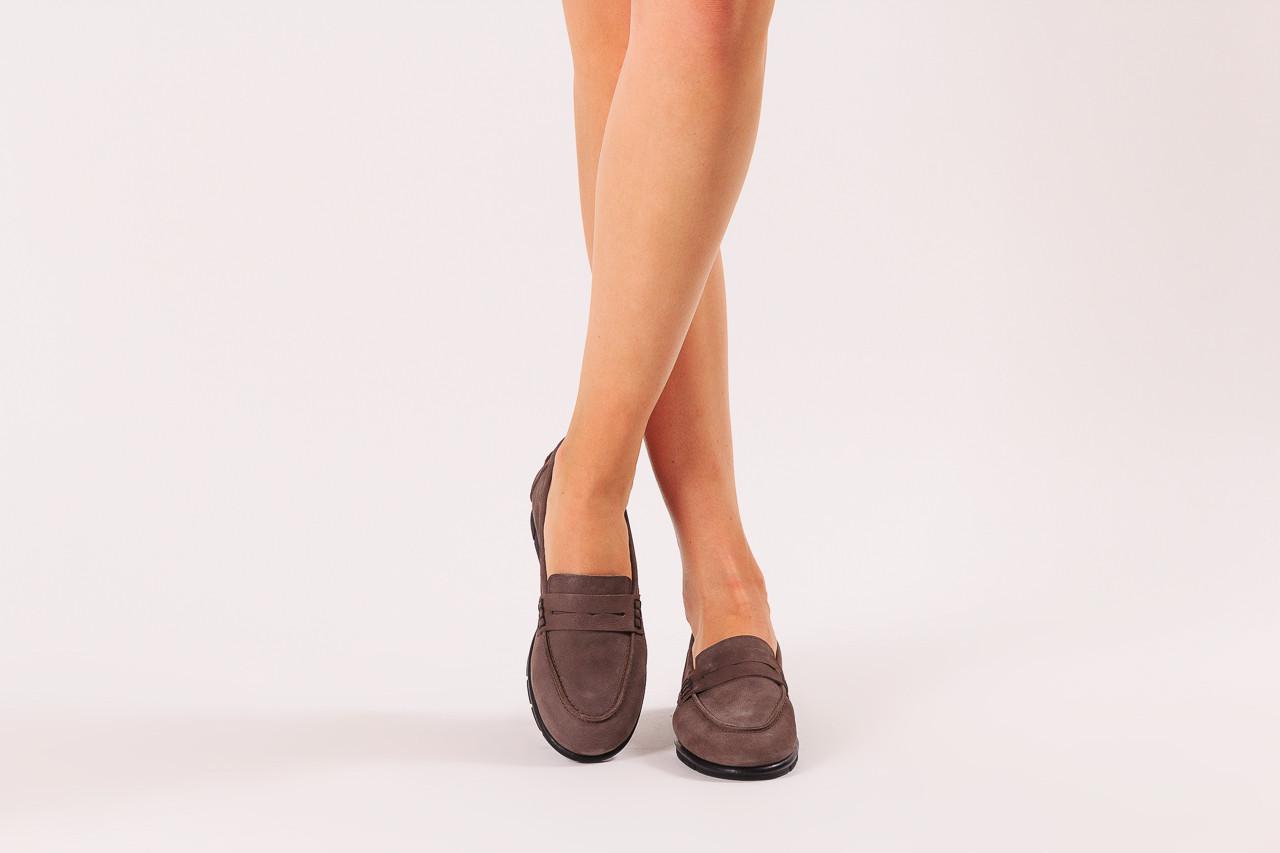 Półbuty bayla-196 168201 d86 196012, szary, skóra naturalna  - zamszowe - półbuty - buty damskie - kobieta 11
