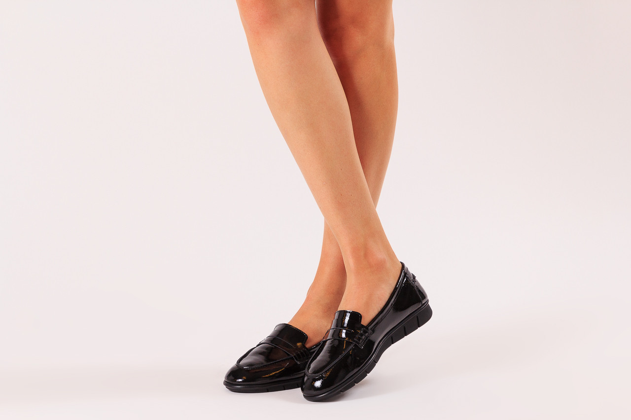 Półbuty bayla-196 168201 siy krs rug 196014, czarny, skóra naturalna lakierowana  - trendy - kobieta 11