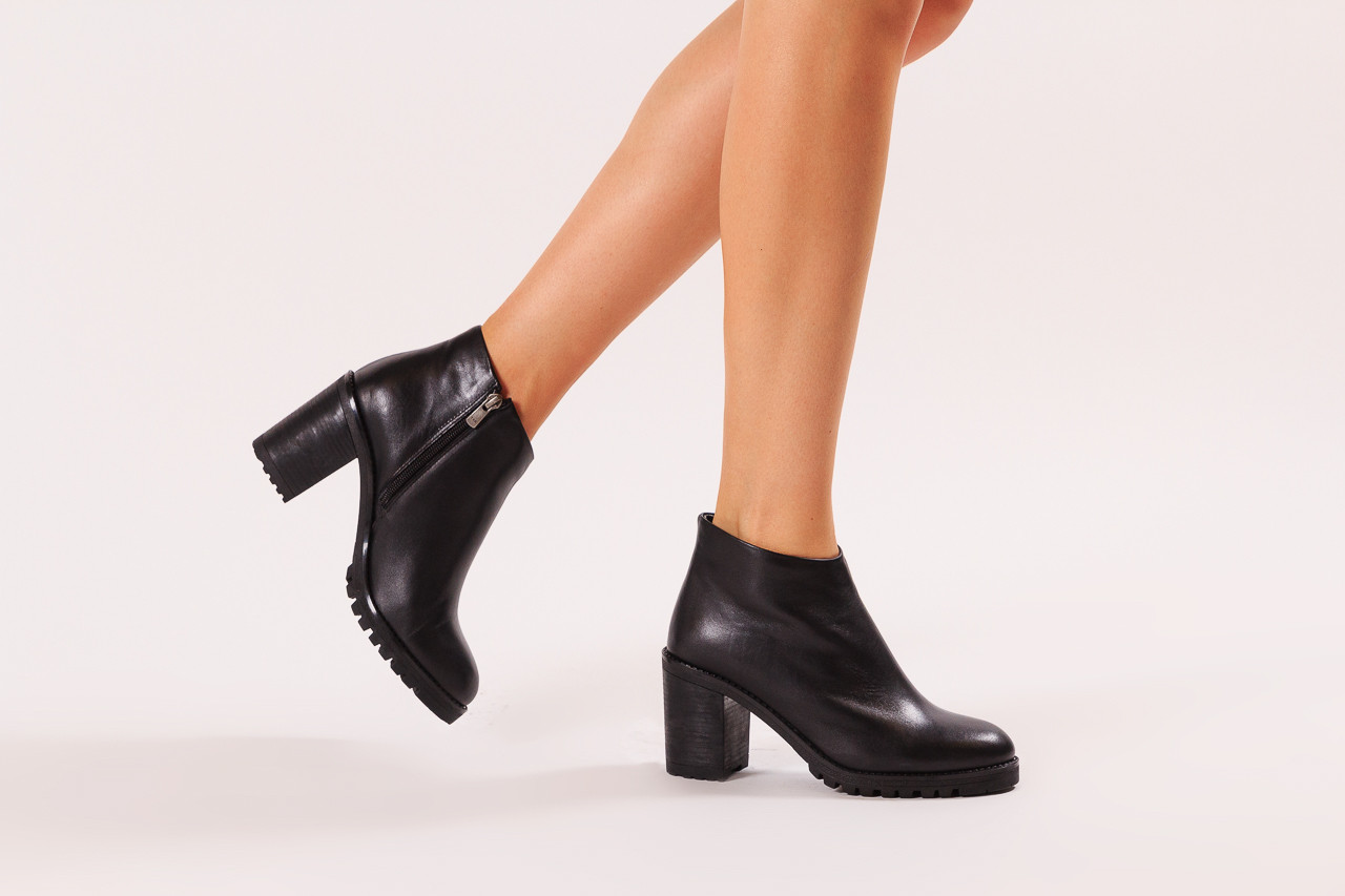 Botki bayla-196 969601 siy soft 196030, czarny, skóra naturalna  - botki - buty damskie - kobieta 11