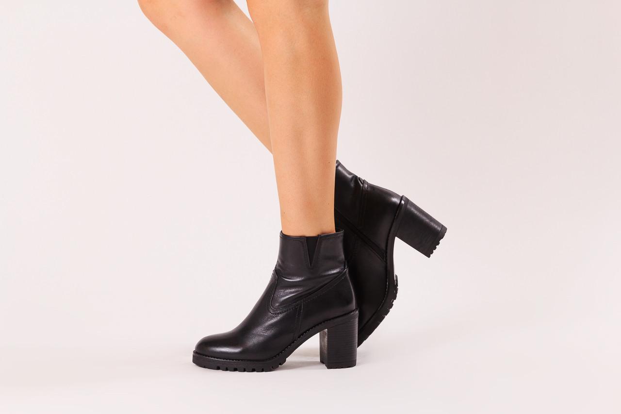 Botki bayla-196 969608 siy soft 196033, czarny, skóra naturalna  - skórzane - botki - buty damskie - kobieta 12