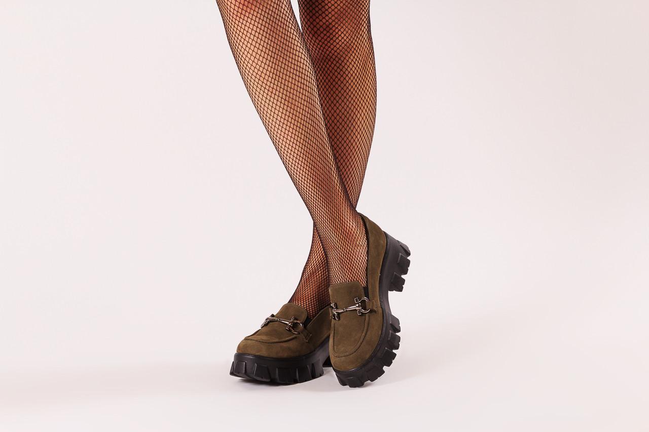 Półbuty bayla-196 20ef126-06 d87 196022, zielony, skóra naturalna  - półbuty - buty damskie - kobieta 12