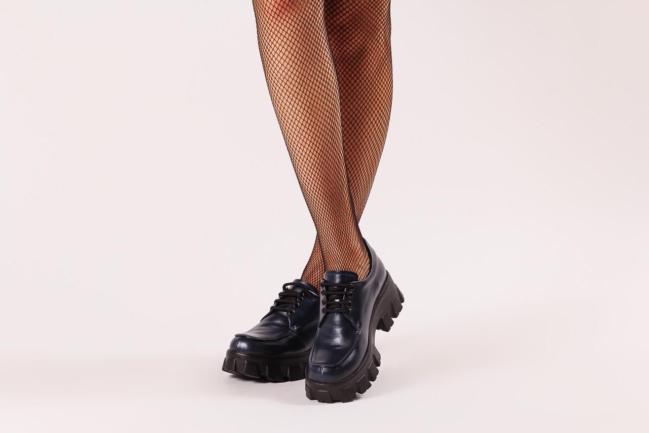Półbuty bayla-196 20ef126-10 d57 laci-kr24 196023, granat, skóra naturalna  - sznurowane - półbuty - buty damskie - kobieta 12