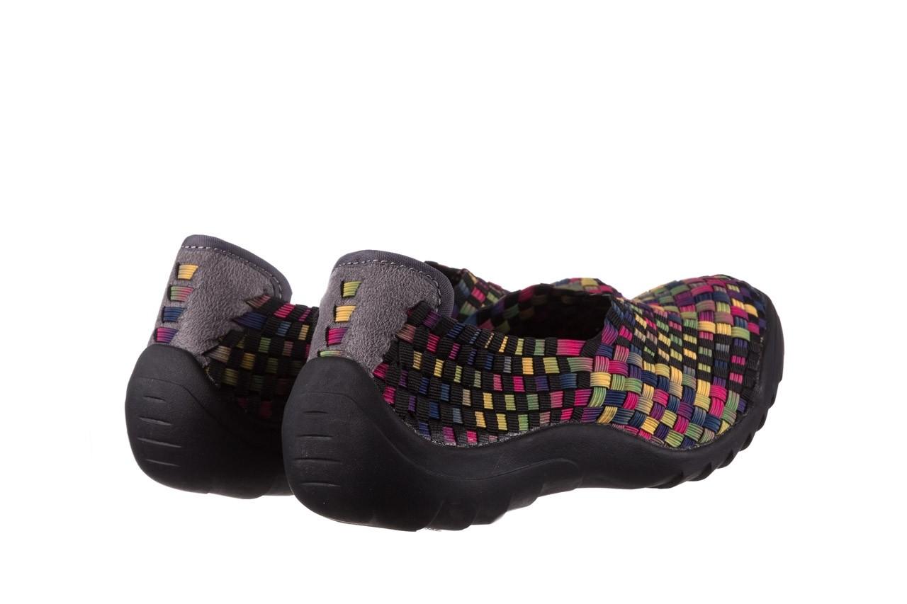 Półbuty rock inoko 20 yellow purple fuchsia smoke blk, wielokolorowy, materiał  - półbuty - buty damskie - kobieta 10