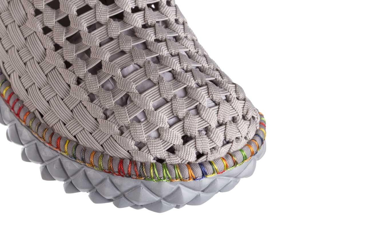 Półbuty rock full breath cord lt grey with tutti frutti binding, szary, materiał  - kobieta 12