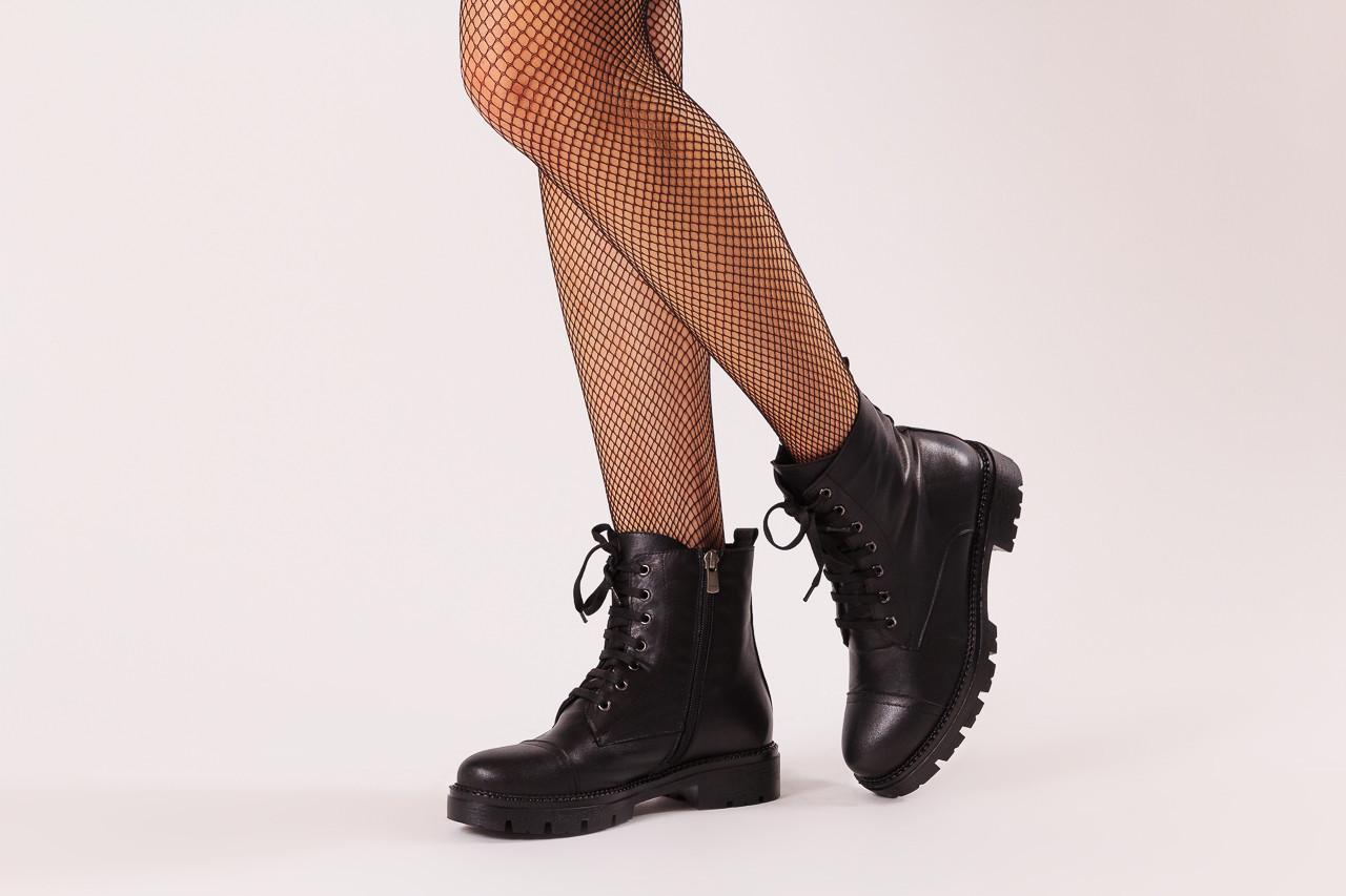 Trzewiki bayla-196 263801 d44 196025, czarny, skóra natutralna  - trzewiki - buty damskie - kobieta 11