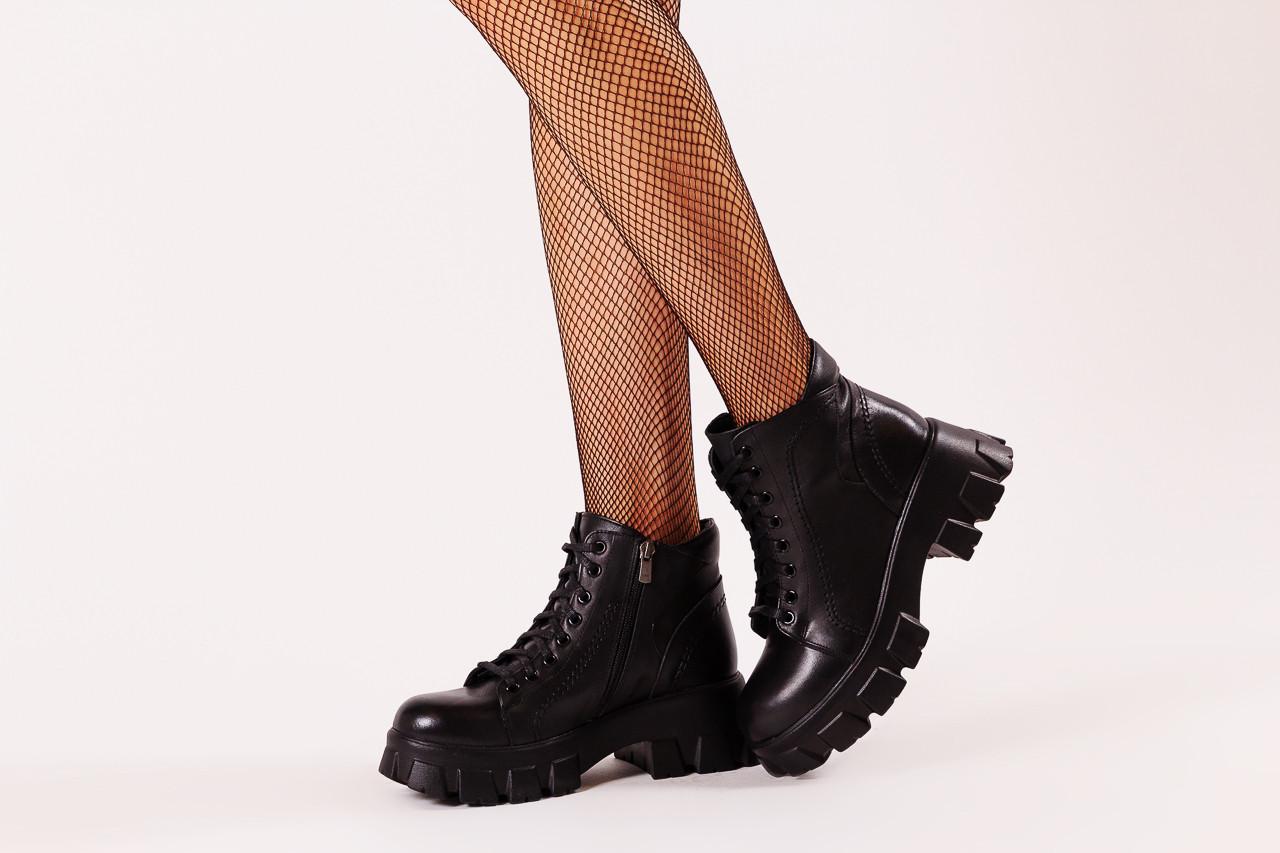 Botki bayla-196 20ef126-03 d44 196020, czarny, skóra naturalna  - botki - buty damskie - kobieta 14