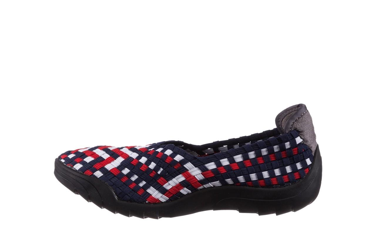 Półbuty rock inoko navy white red navy, granat, materiał  - półbuty - buty damskie - kobieta 9
