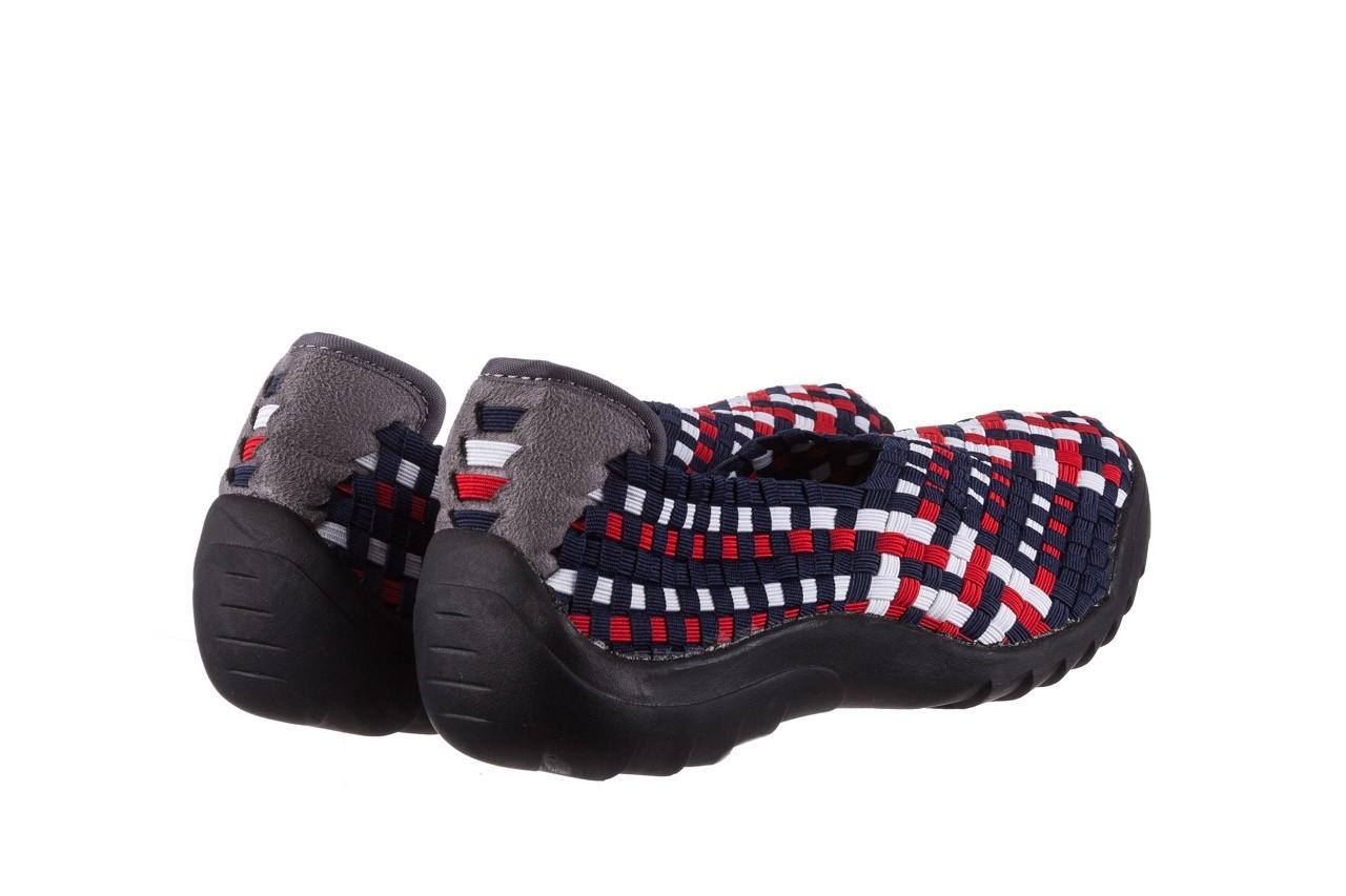 Półbuty rock inoko navy white red navy, granat, materiał  - półbuty - buty damskie - kobieta 10