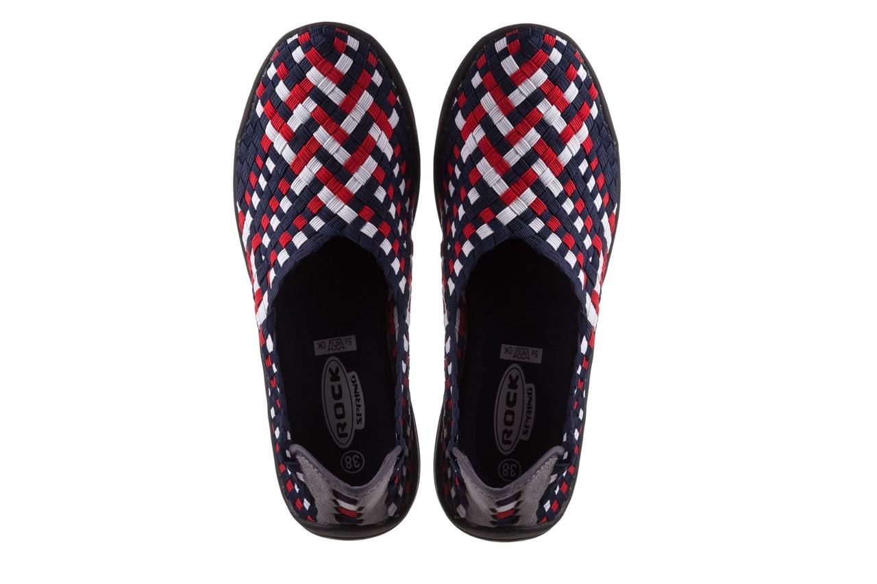Półbuty rock inoko navy white red navy, granat, materiał  - półbuty - buty damskie - kobieta 11