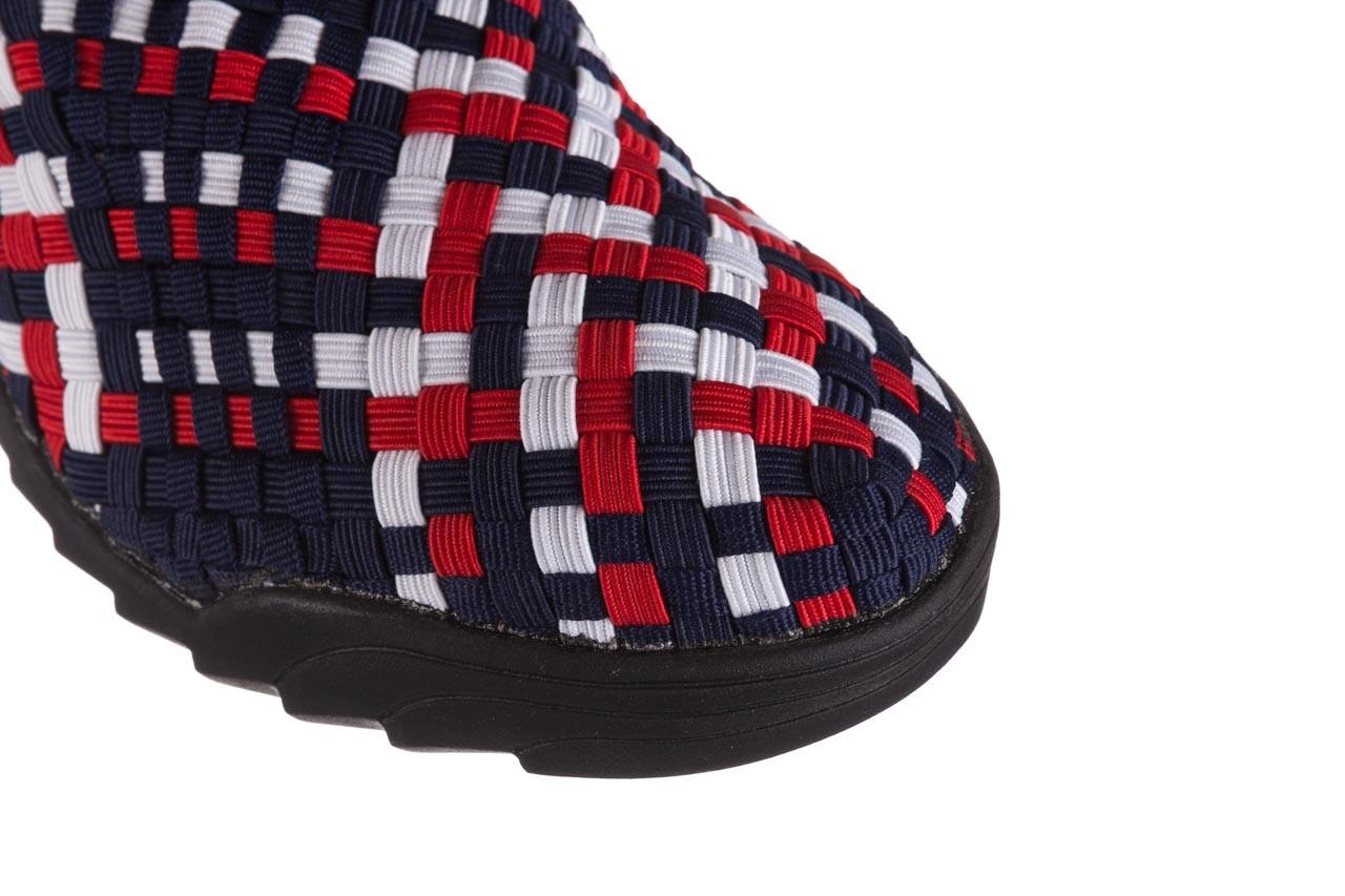 Półbuty rock inoko navy white red navy, granat, materiał  - półbuty - buty damskie - kobieta 12