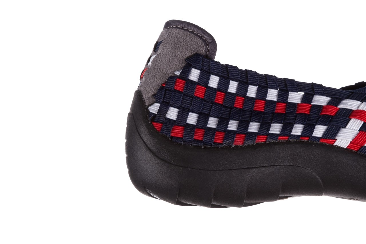 Półbuty rock inoko navy white red navy, granat, materiał  - półbuty - buty damskie - kobieta 13