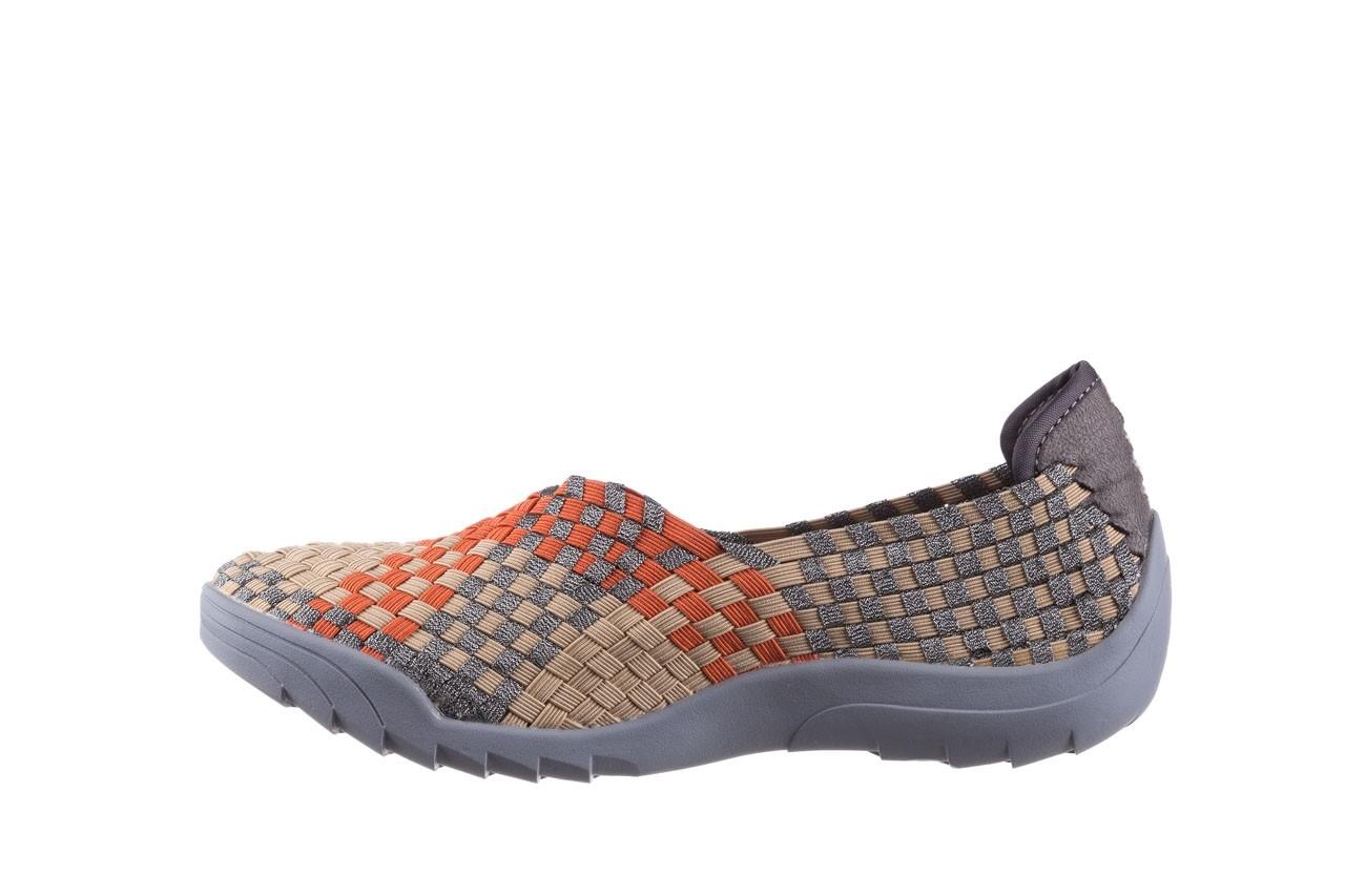 Półbuty rock inoko orange apricot pewter, beż, materiał  - półbuty - buty damskie - kobieta 9