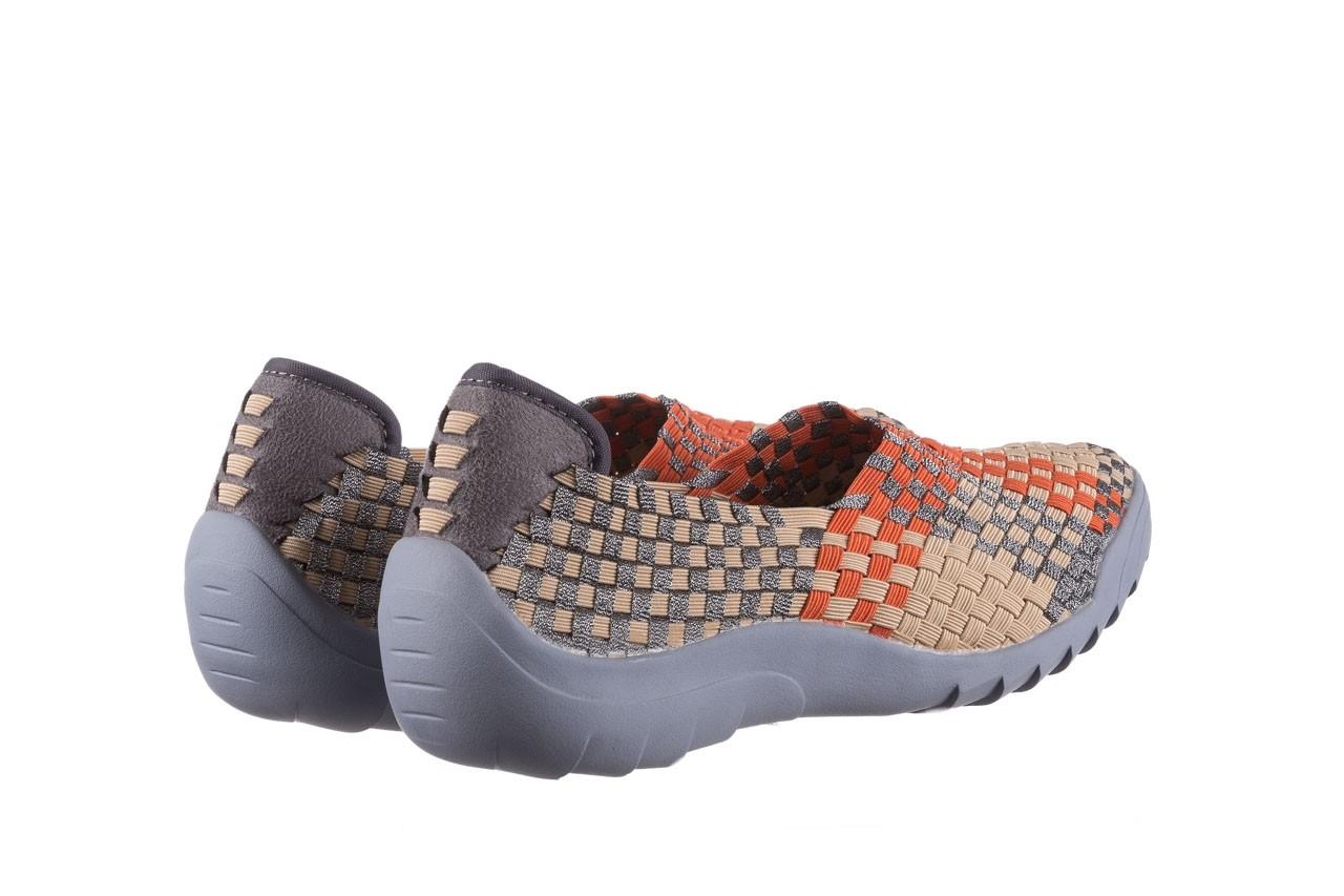 Półbuty rock inoko orange apricot pewter, beż, materiał  - półbuty - buty damskie - kobieta 10