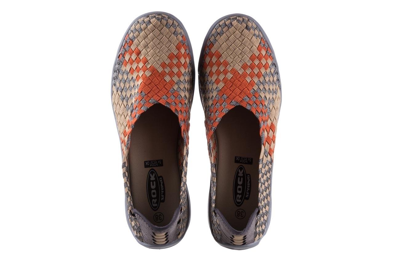 Półbuty rock inoko orange apricot pewter, beż, materiał  - półbuty - buty damskie - kobieta 11