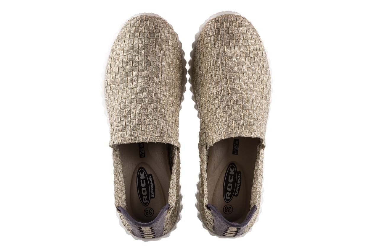 Półbuty rock nina lt gold, złoty, materiał  - półbuty - buty damskie - kobieta 11