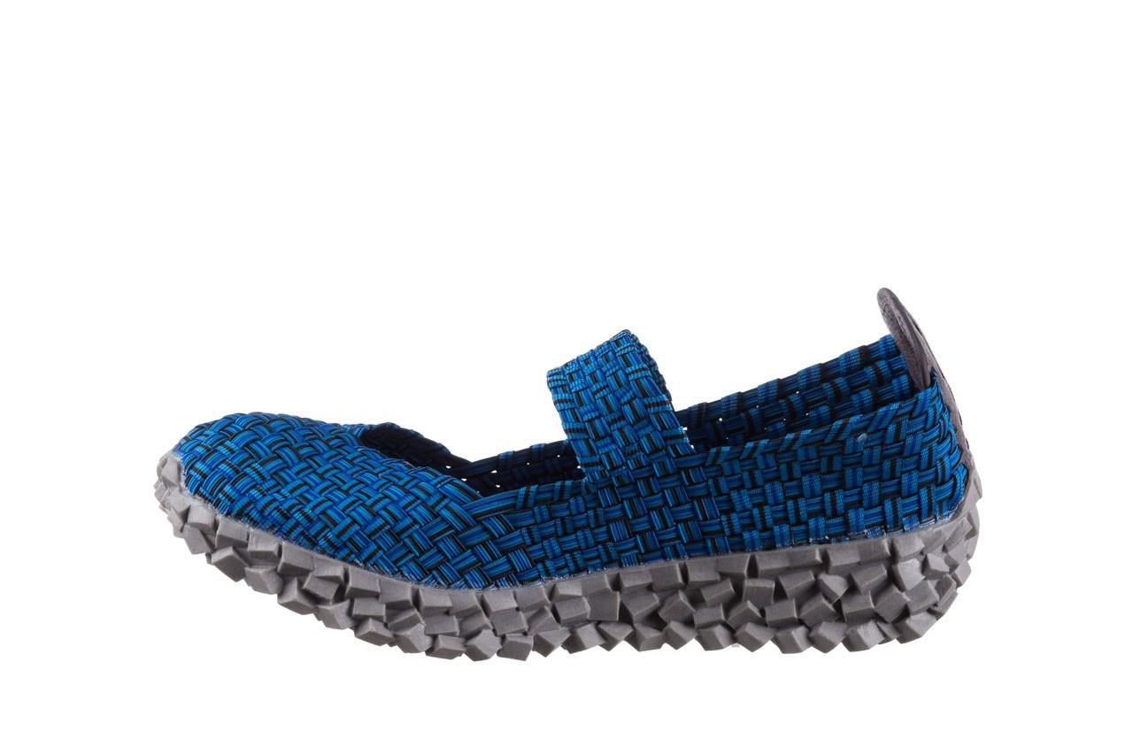 Półbuty rock koala aqua blk lines smoke, niebieski, materiał - wsuwane - półbuty - buty damskie - kobieta 9