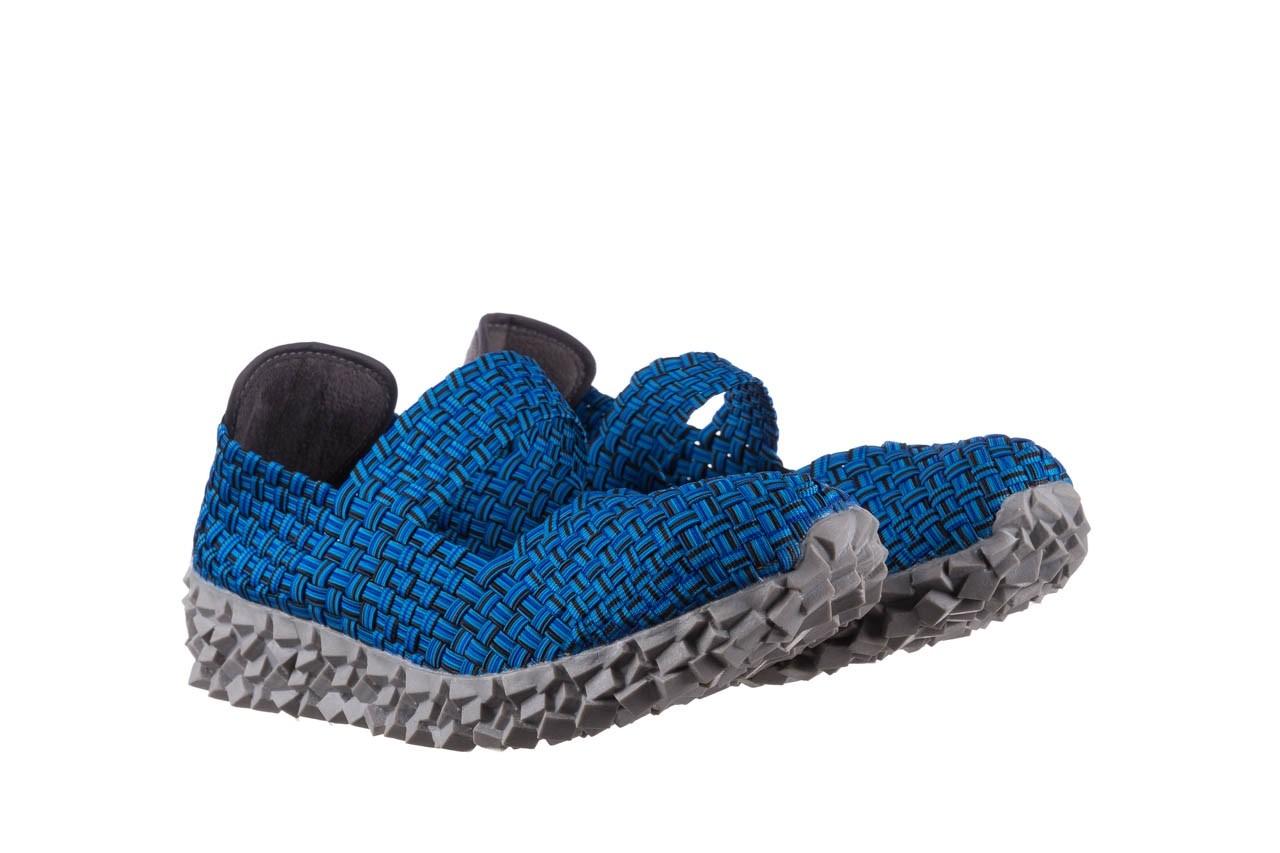 Półbuty rock koala aqua blk lines smoke, niebieski, materiał - wsuwane - półbuty - buty damskie - kobieta 8