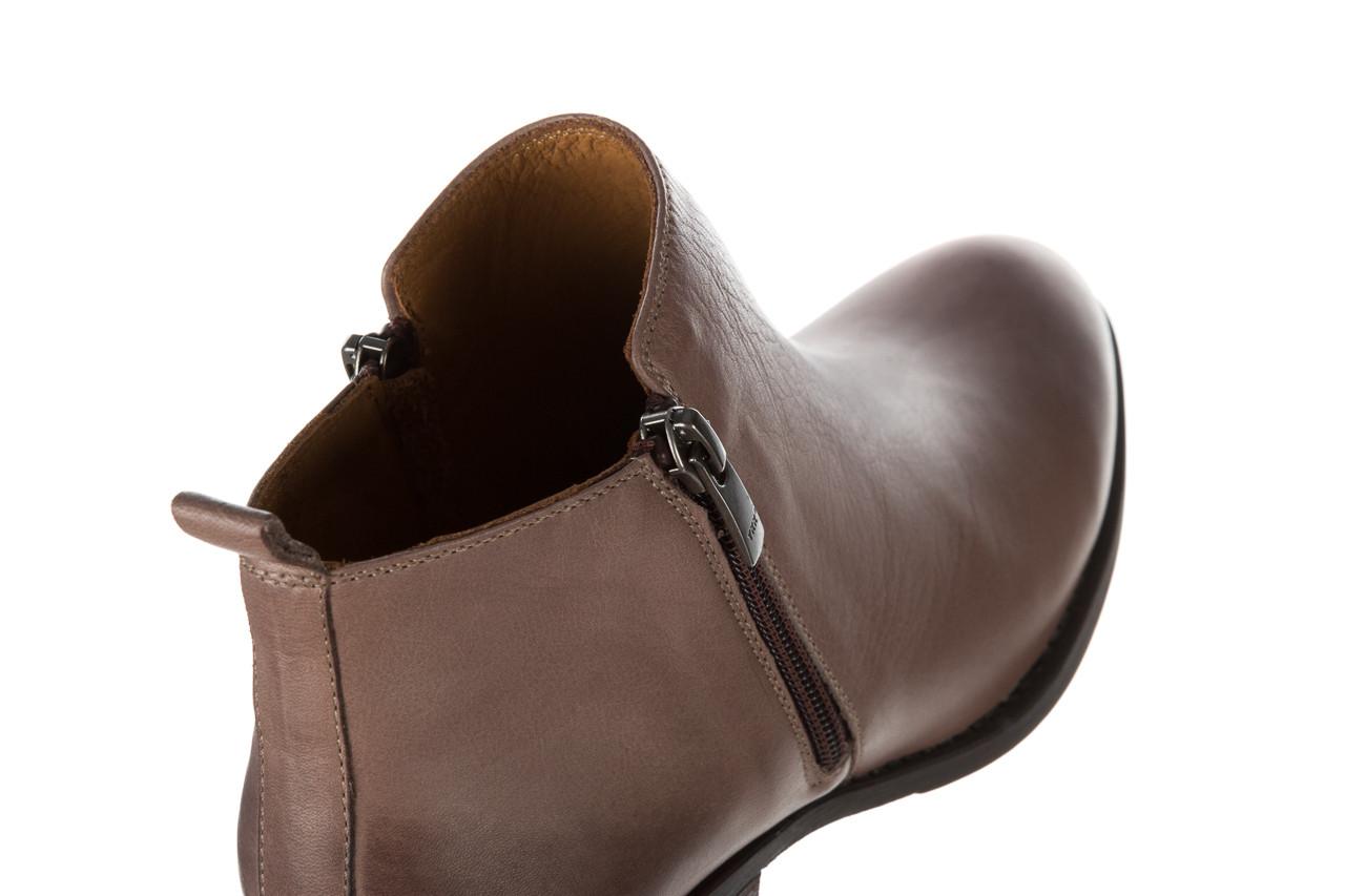 Botki bayla 161 061 2003 14 hat 161179, beż, skóra naturalna  - skórzane - botki - buty damskie - kobieta 14