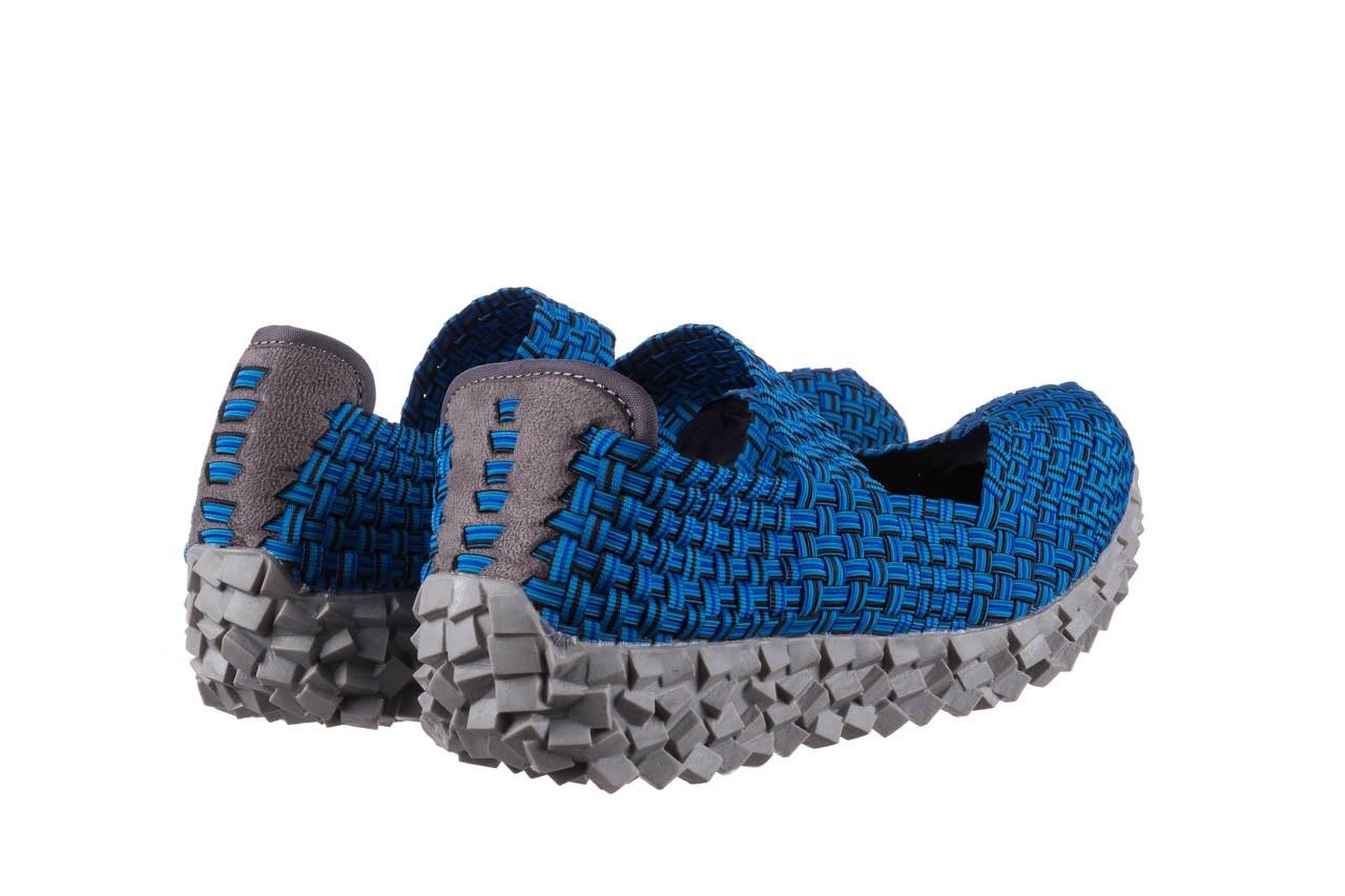 Półbuty rock koala aqua blk lines smoke, niebieski, materiał - wsuwane - półbuty - buty damskie - kobieta 10