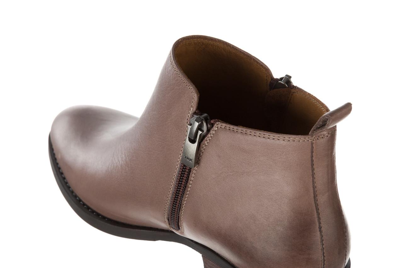 Botki bayla 161 061 2003 14 hat 161179, beż, skóra naturalna  - skórzane - botki - buty damskie - kobieta 15