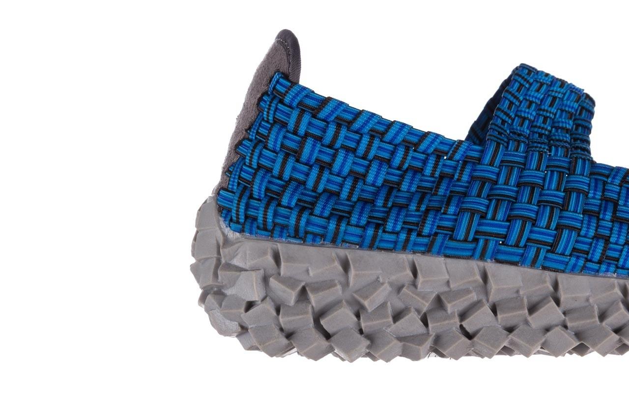 Półbuty rock koala aqua blk lines smoke, niebieski, materiał - wsuwane - półbuty - buty damskie - kobieta 13