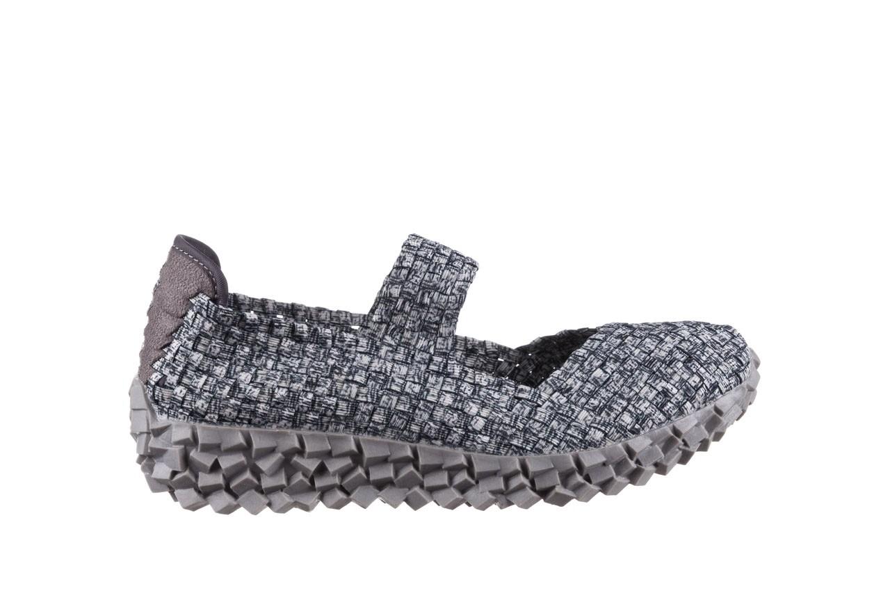 Półbuty rock koala black grey s smoke, biały/ szary, materiał  - kobieta 7