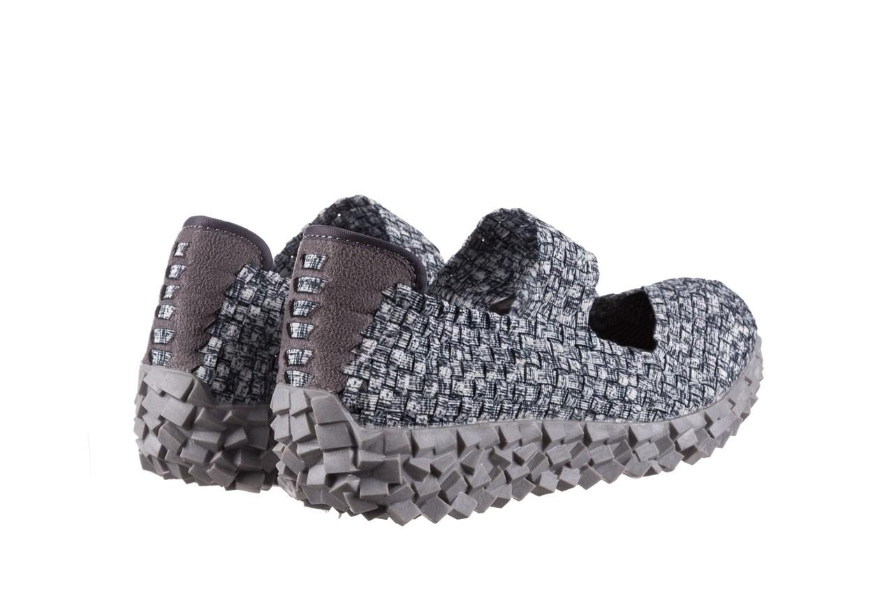 Półbuty rock koala black grey s smoke, biały/ szary, materiał  - kobieta 10