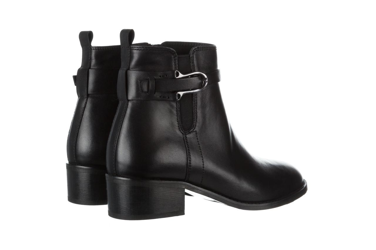 Botki bayla 161 077 48461 black 161184, czarny, skóra naturalna  - skórzane - botki - buty damskie - kobieta 15